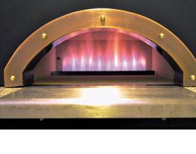 ピザ窯の特徴① 強火力バーナー